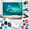 """WiFi Projector, POYANK Upgraded 6500Lumens Portable Mini Projector, Full HD 1080P and 200"""" Display Supported, Compatible with Phone/TV Stick/HDMI/AV/USB/TF/VGA"""